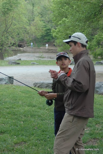 us youth fly fishing team casting lesson