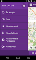 Screenshot of Omnitel Navigacija