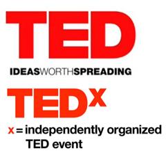 TED TEDx logos 415x380