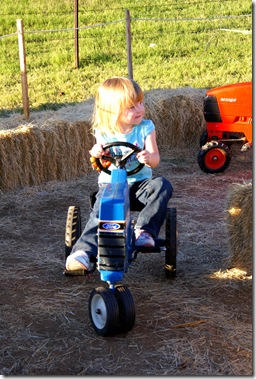 Brooklyn Riding a Tractor