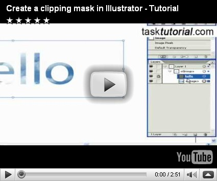 how to make a clipping mask in illustrator