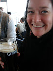 Christine with her Guinness