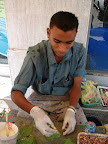 Man making betelnut