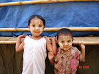 Kids wearing thanaka