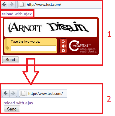 C how to use recaptcha with ajax form in mvc3 stack overflow - Ajax reload div ...