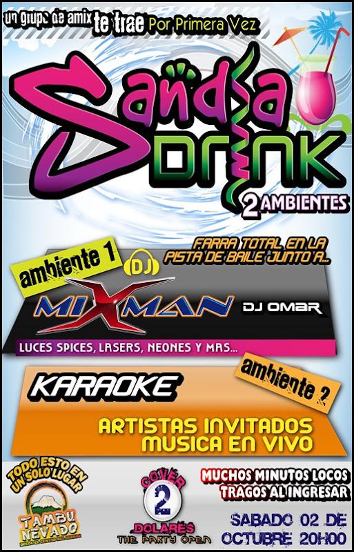 sandia drink - afiche A3