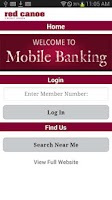 Screenshot of Red Canoe CU Mobile Banking