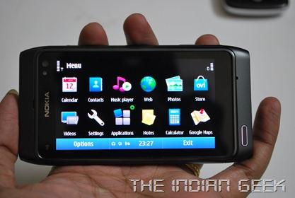 Nokia N8 - Landscape mode