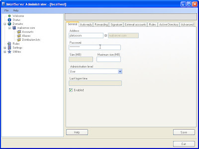 mail server,hmailserver setting