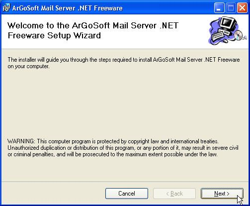 argosoft mail server installation