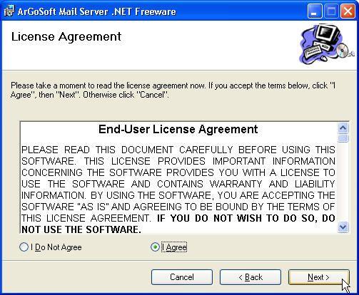 argosoft mail server installation