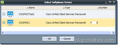 CUCIMOC Device Select