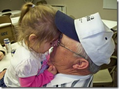 Jaelynn and grandpa sharing a moment