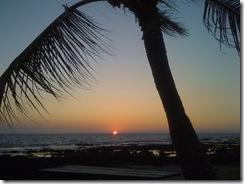 ハワイ島夕日