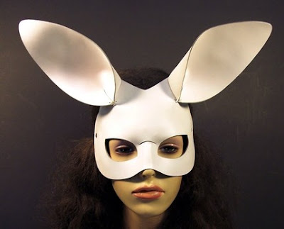 white bunny mask from tom banwell designs