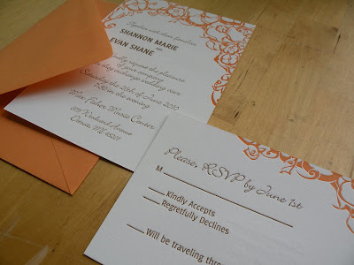 letterpress wedding invites by ann deotte