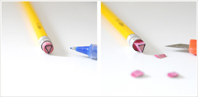 pencil eraser stamp tutorial from creature comforts