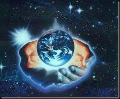 el mundo en las manos de Dios