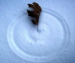 cirkel in de sneeuw