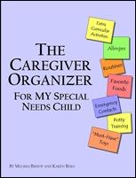 caregiver organizer cover special needs child