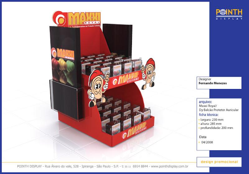 Display Balcão Maxxi Royal - Materiais: PS e Acrílico