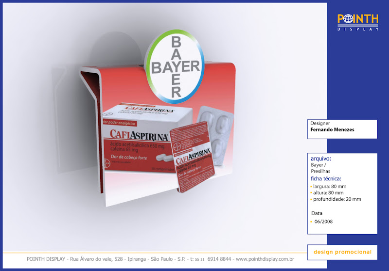 Display expositor Presilha Bayer Material PS