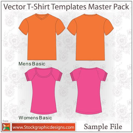 Master Pack : T-Shirt Templates - Camisas para download grátis