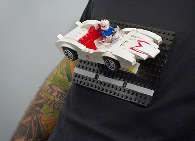 Brick Construction Shirt - Camisa personalizada Lego - Speed Racer Detalhe