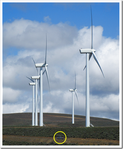Wild Horse Wind Farm: wind turbines (click for larger image)