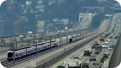 Sound Transit trains on I-90
