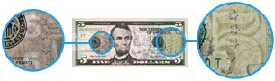 Watermark on the new $5 bill