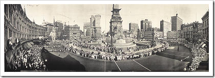 Library Of Congress: Soldiers' farewell parade