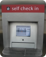 Redmond Library automated self check in machine