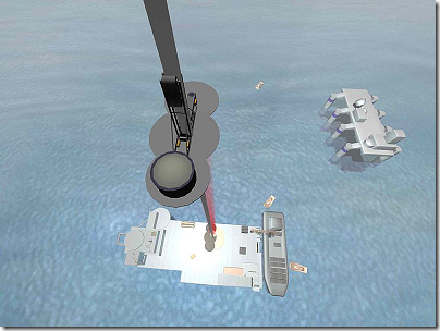 Space elevator on mobile seagoing platform
