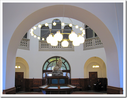 Black Diamond: dome in the older part of the library