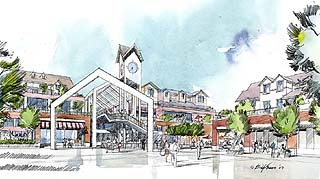 Lake Hills Shopping Center sketch