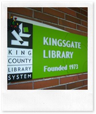 I'm sure riding isn't really allowed on the Kingsgate Library sign. . .