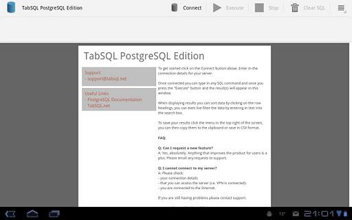 TabSQL PostgreSQL Edition