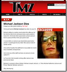 R.I.P. Ha muerto Michael Jackson
