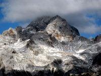 Vrh Triglava v oblaku