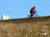 Gorski kolesar na vrhu