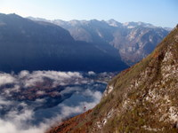 Pogled na Bohinjsko jezero