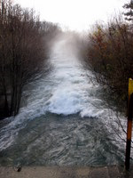 Pogled na potok Lijak z mostu