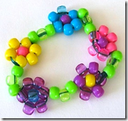 beaded floral bracelet