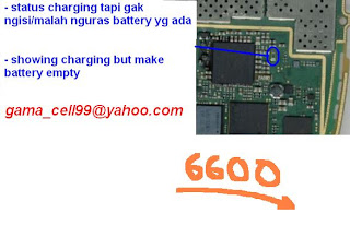 Trik  Jumper 6600 showing charge make empty batt