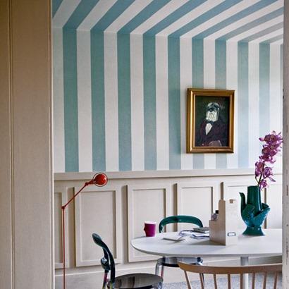 stripy dining-room