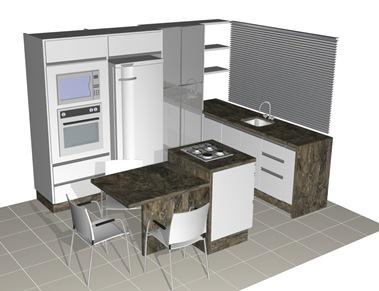 projeto da cozinha pequena