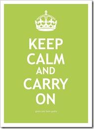 Keep Calm Verde Limão