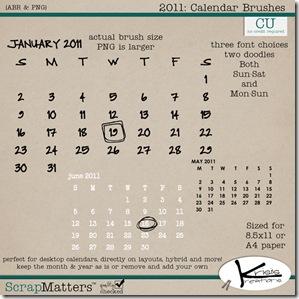 Calendar Brushes 2011