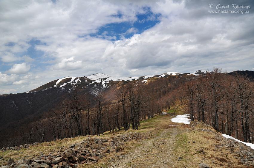сідловина між Климовою та Гропою